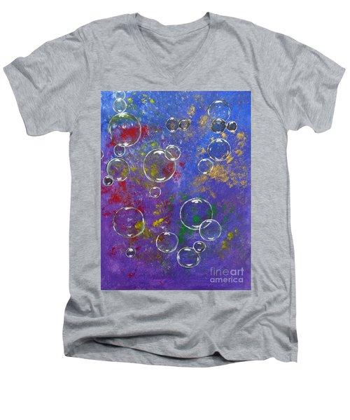 Graffiti Bubbles Men's V-Neck T-Shirt