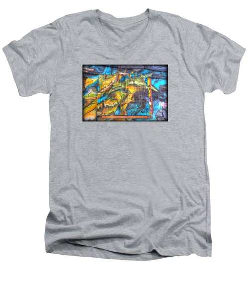 Grafiti Window Men's V-Neck T-Shirt
