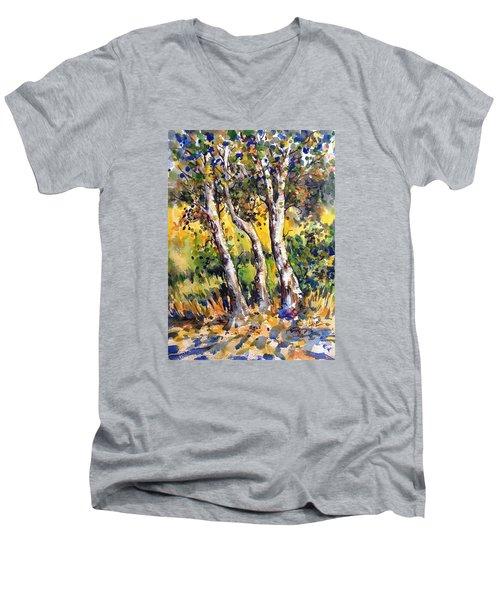 Grainery Poplars Men's V-Neck T-Shirt
