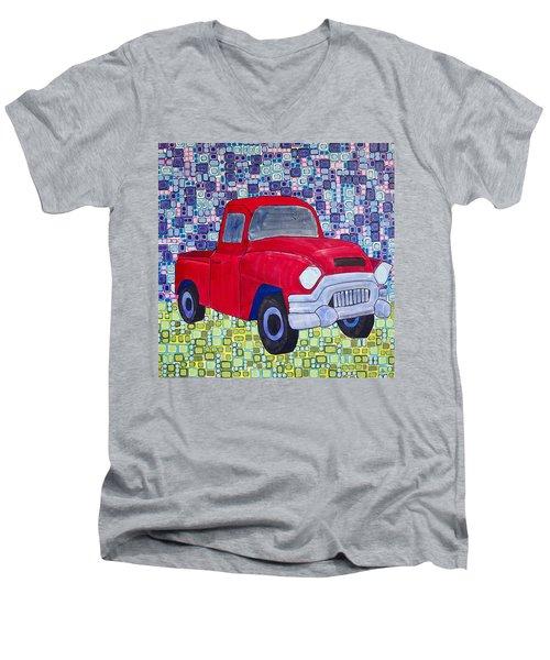 Gramps Had A Green Truck Men's V-Neck T-Shirt