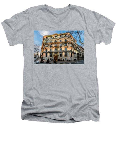 Gran Hotel Havana Men's V-Neck T-Shirt by Randy Scherkenbach