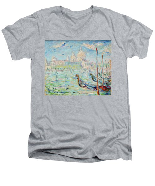 Grand Canal Venice Men's V-Neck T-Shirt