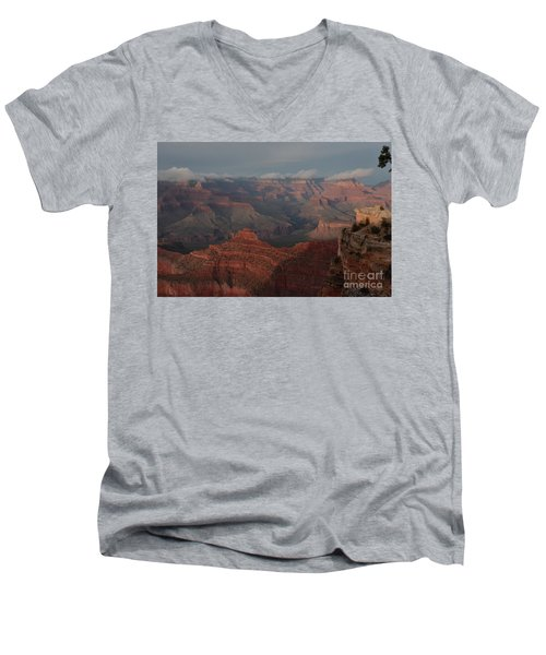 Men's V-Neck T-Shirt featuring the photograph Grand Canyon 1 by Debby Pueschel