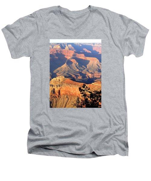 Grand Canyon 50 Men's V-Neck T-Shirt by Will Borden