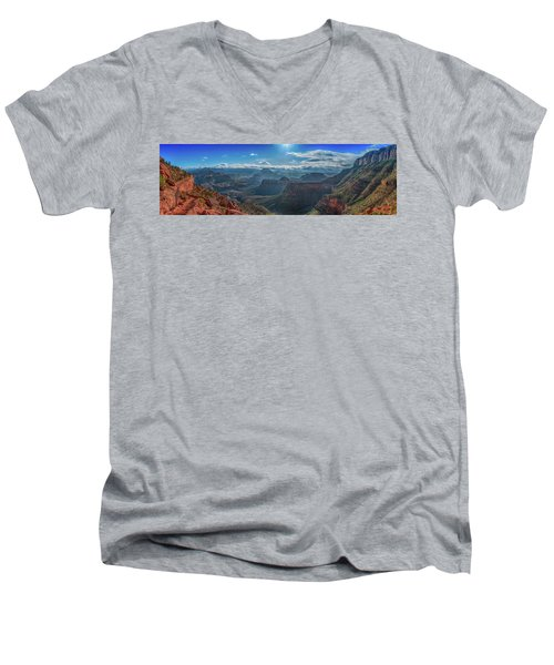 Men's V-Neck T-Shirt featuring the photograph Grand Canyon 6 by Phil Abrams