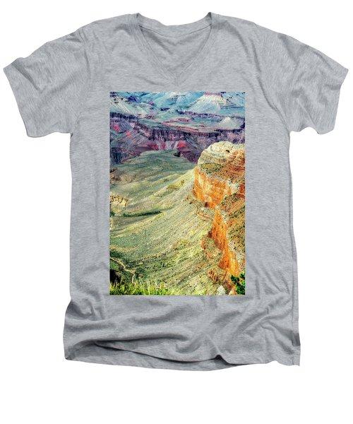 Grand Canyon Abstract Men's V-Neck T-Shirt by Robert FERD Frank