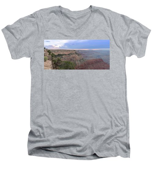 Grand Canyon Men's V-Neck T-Shirt by Fink Andreas