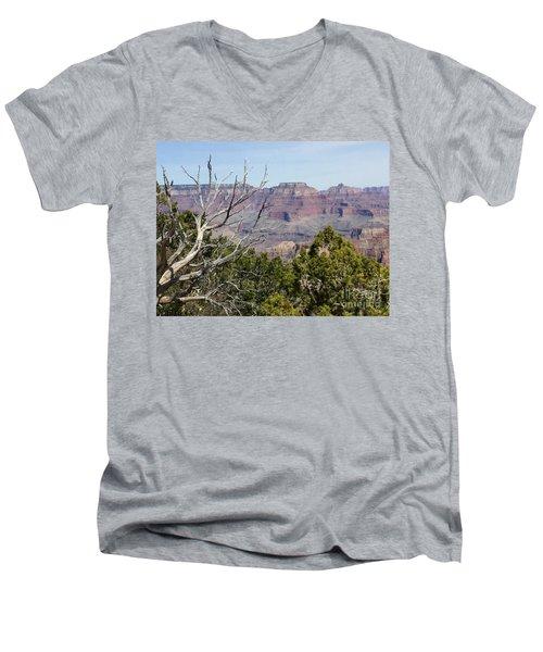 Grand Canyon National Park South Rim Men's V-Neck T-Shirt by Patricia E Sundik
