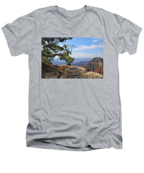 Grand Canyon North Rim Craggy Cliffs Men's V-Neck T-Shirt