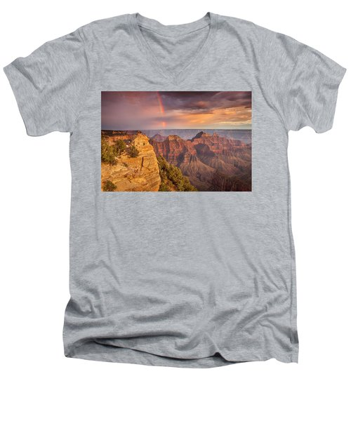 Grand Canyon North Rim Rainbow Men's V-Neck T-Shirt