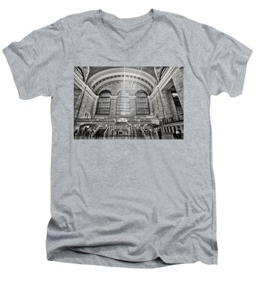 Grand Central Terminal Station Men's V-Neck T-Shirt by Susan Candelario