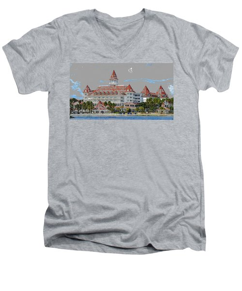 Grand Floridian In Summer Men's V-Neck T-Shirt
