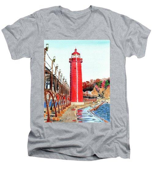Grand Haven Autumn Men's V-Neck T-Shirt