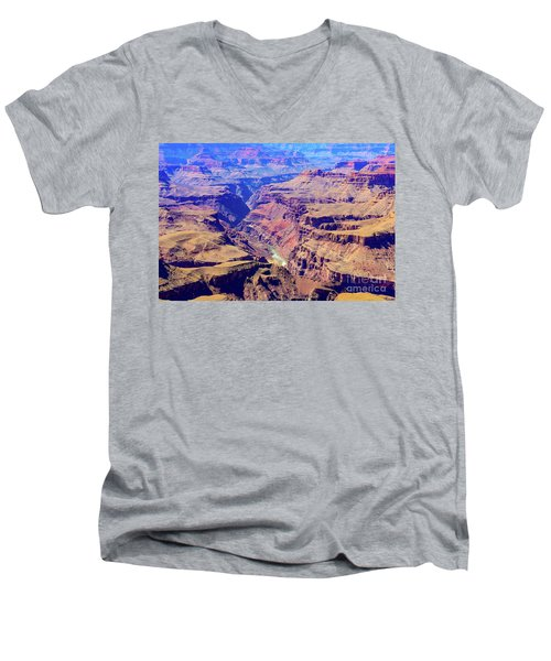 Grand Haze Canyon Men's V-Neck T-Shirt