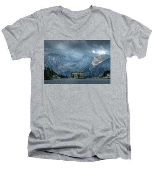 Grand Hotel Misurina Men's V-Neck T-Shirt