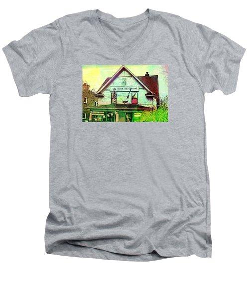 Grand Irish  Men's V-Neck T-Shirt by Susan Stone