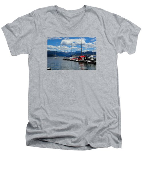 Grand Lake And Indian Peaks Wilderness Men's V-Neck T-Shirt