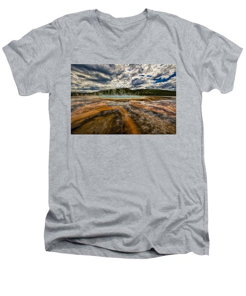 Grand Prismatic Spring Men's V-Neck T-Shirt