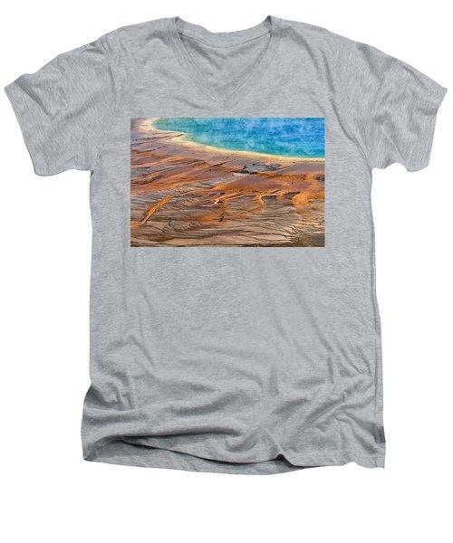 Grand Prismatic Spring Men's V-Neck T-Shirt