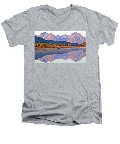 Grand Reflections Men's V-Neck T-Shirt by Scott Mahon