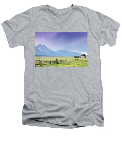 Grand Teton Homestead Men's V-Neck T-Shirt