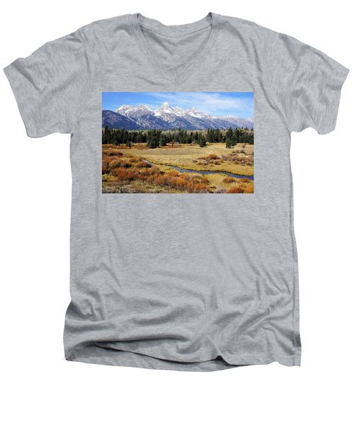 Grand Teton Men's V-Neck T-Shirt