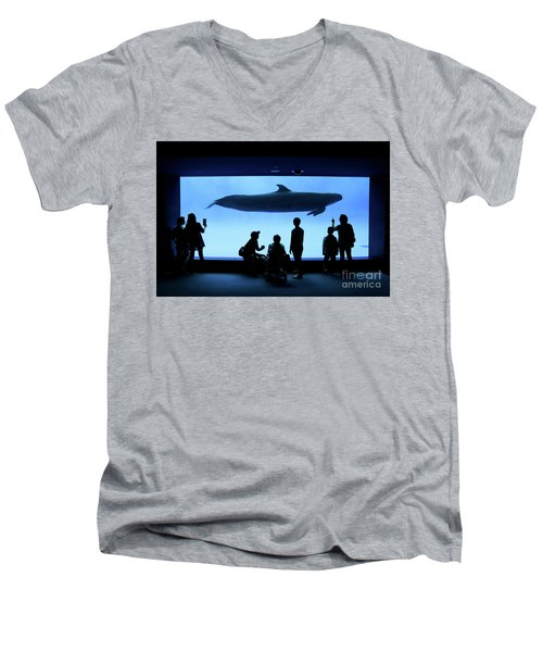 Grand Whale Men's V-Neck T-Shirt