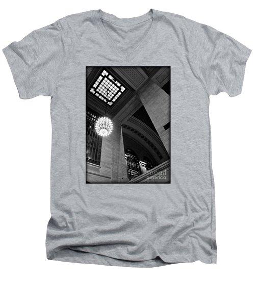 Grandeur At Grand Central Men's V-Neck T-Shirt by James Aiken