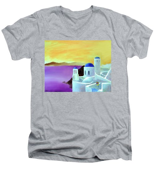 Grandeur Of Greece Men's V-Neck T-Shirt
