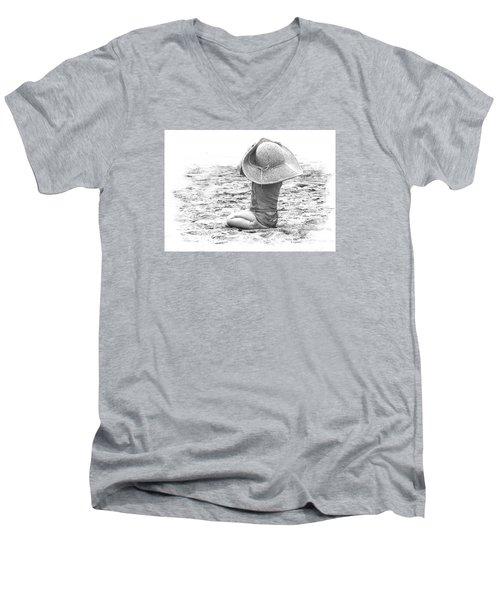 Grandma's Hat Men's V-Neck T-Shirt by Kerri Ligatich