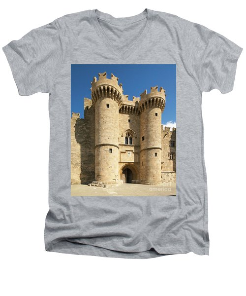 Grandmaster Palace Rhodes Island Greece 1 Men's V-Neck T-Shirt