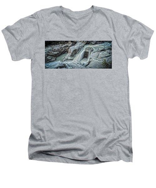 Granite Falls Blues Men's V-Neck T-Shirt by Tony Locke