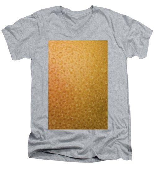 Grapefruit Skin Men's V-Neck T-Shirt by Steve Gadomski