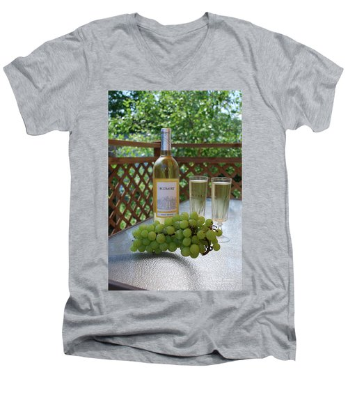 Grapes And Wine Men's V-Neck T-Shirt