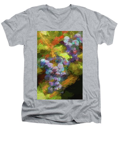 Grapes In Abstract Men's V-Neck T-Shirt