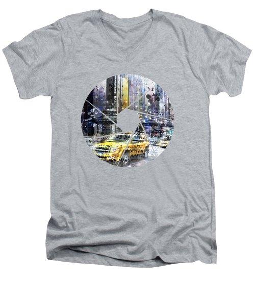 Graphic Art New York City Men's V-Neck T-Shirt