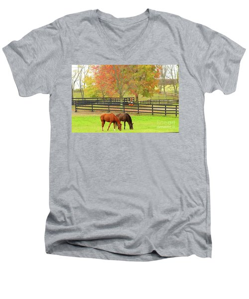 Grazing Time Men's V-Neck T-Shirt