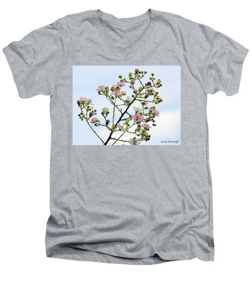 Grasping For The Hands Of Heaven Men's V-Neck T-Shirt by Steve Warnstaff