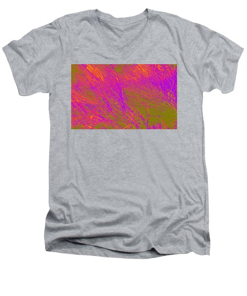 Grass Abstract 4 Men's V-Neck T-Shirt