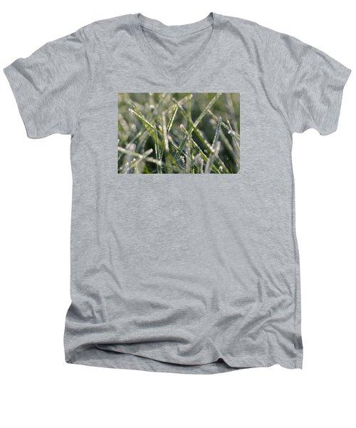 Grass Bokeh Men's V-Neck T-Shirt by Nikki McInnes