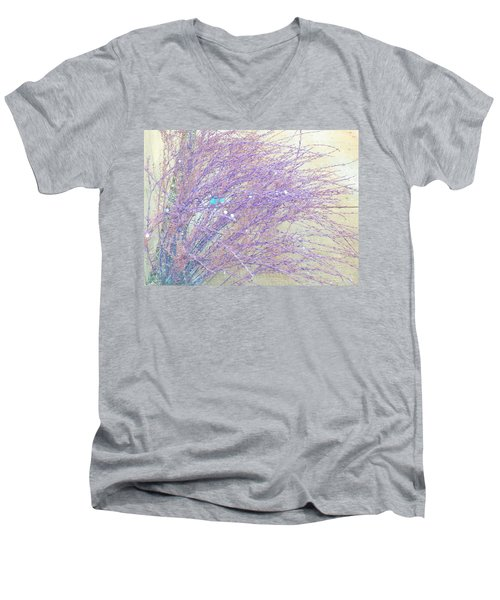 Men's V-Neck T-Shirt featuring the photograph Grasses Toward The Sun by Lenore Senior
