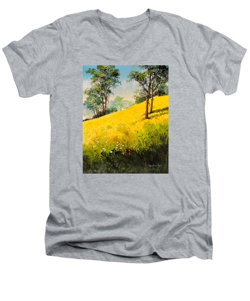Grassy Hillside II Men's V-Neck T-Shirt