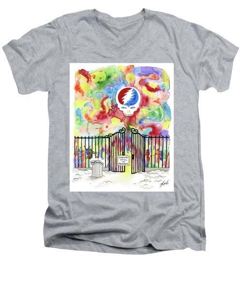 Grateful Dead Concert In Heaven Men's V-Neck T-Shirt