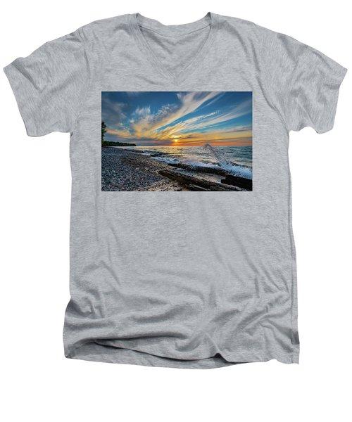 Graveyard Coast Sunset Men's V-Neck T-Shirt