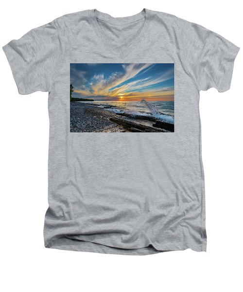 Graveyard Coast Sunset Men's V-Neck T-Shirt