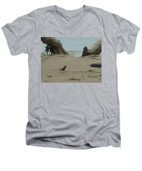 Gray Day On Maui Men's V-Neck T-Shirt