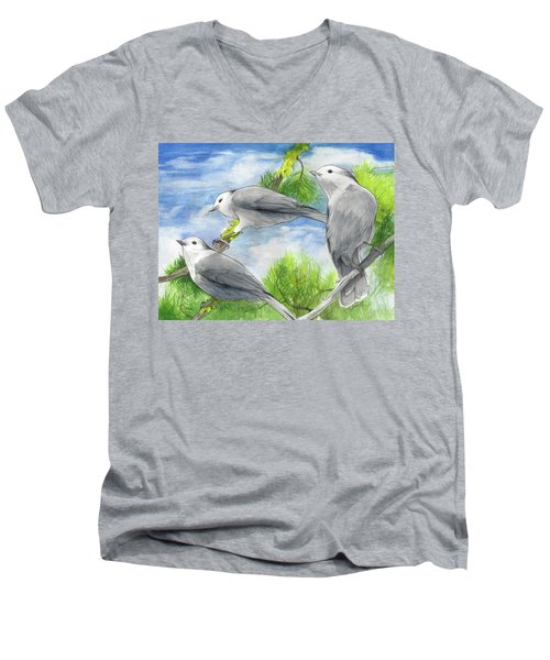 Gray Jays Trio Men's V-Neck T-Shirt