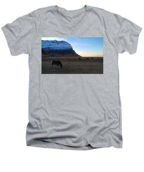 Grazing At Dawn Men's V-Neck T-Shirt