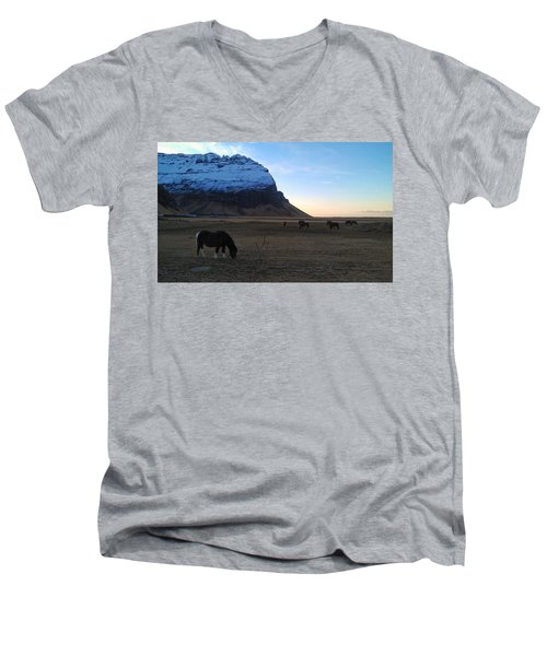 Grazing At Dawn Men's V-Neck T-Shirt