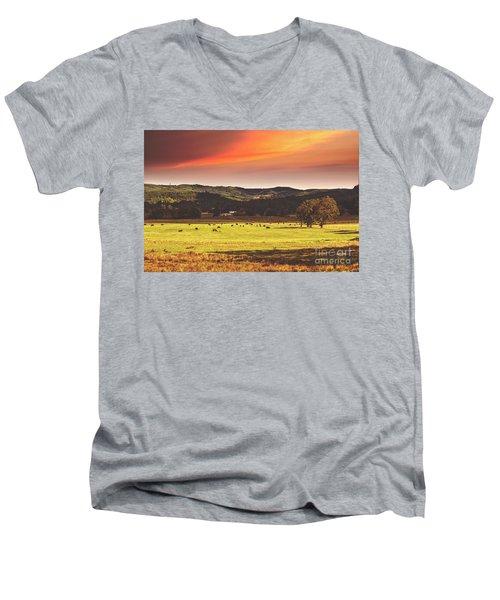 Grazing Men's V-Neck T-Shirt